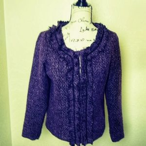 Anthropology Nick + Mo purple ruffled blazer